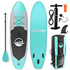 Fully upgraded, the SereneLife Inflatable Stand Up Paddle Board puts your mind at ease as you row thehigh seas!Complete with everything needed to get started, this 5-in-1 paddle board kit is a top choice amongpaddling beginners. SUP Board Set...