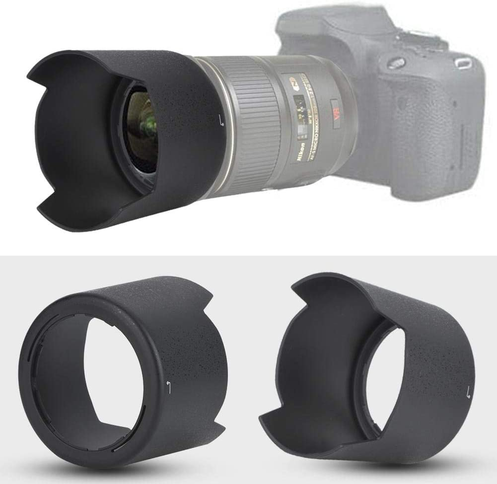 Oumij Camera Lens Hood,HB-38 Lens Hood Fit Replacement Lens Hood,for AF-S Micro 105mm f//2.8G IF-ED VR Lens
