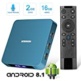 Android TV Box, Tishow Smart Internet TV Box 8.1 with 2GB RAM 16GB ROM,Rockchip 3328 Quad-core Cortex-A53 up to 1.5GHz WiFi Support 4K Full HD with Remote Control