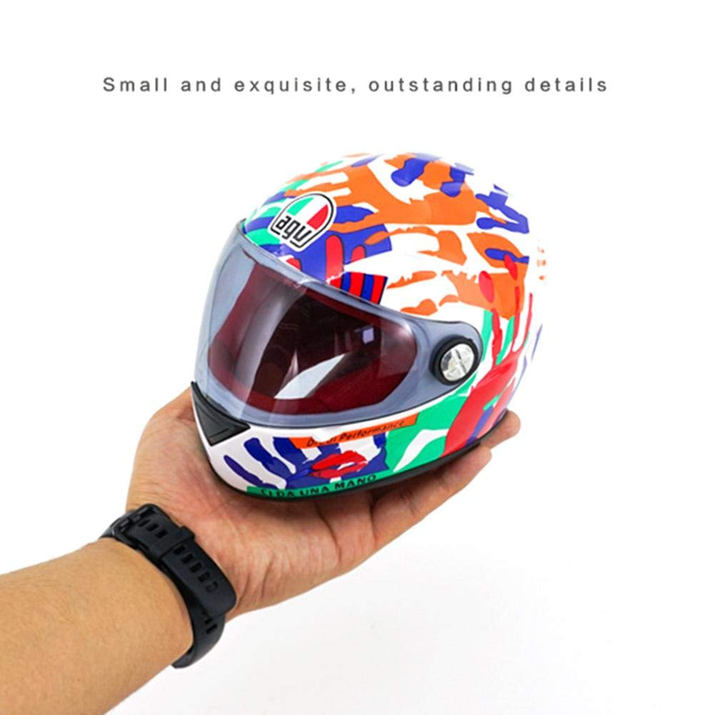 Likeitwell Mini Helmet Ornaments Cute Motorcycle Helmet Bear Doll Decoration Palm Flower//Red Black