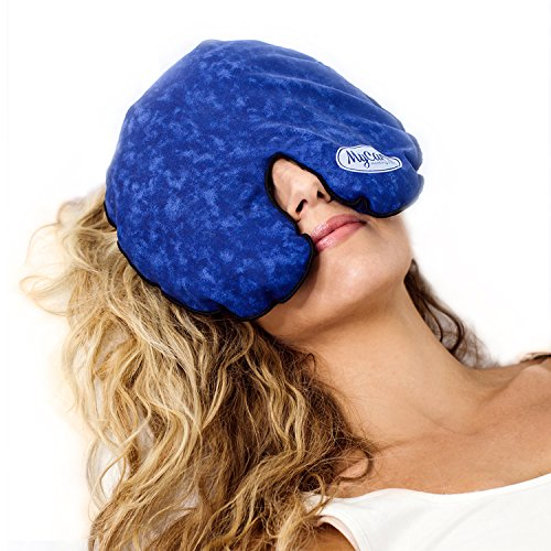 - MyCare Face Mask (with Washable Cover) Hot Cold Compress Therapy, Natural Reusable Relief for Migraine, Tension, Stress, Sinus, Headache and Relaxation (Blue)
