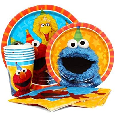 Sesame Street Elmo Value Pack Birthday Party for 8 guests ( Plates, Cups, Napkins): Toys & Games