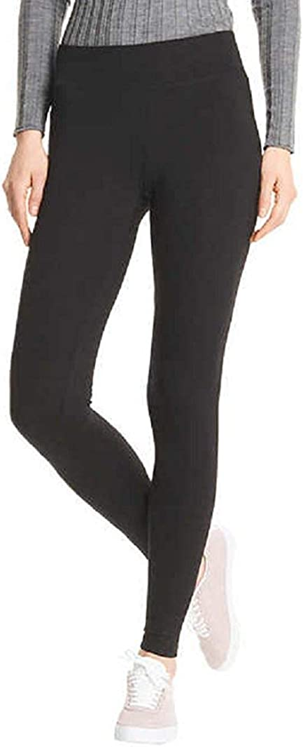 Mid-Rise HUE Every Day Leggings Wide Comfortable Waistband,Ultra Soft Cotton 2 Pack