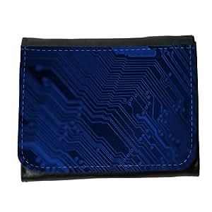 le portefeuille de grands luxe femmes avec beaucoup de compartiments // M00157362 Superficial de fondo azul // Small Size Wallet