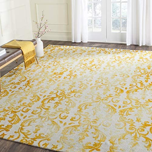 Safavieh Dip Dye Collection DDY689A Ivory and Gold Area Rug
