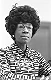 Photo: Congresswoman Shirley Chisholm announcing candidacy, presidential nomination, 1972 . Size: 8x