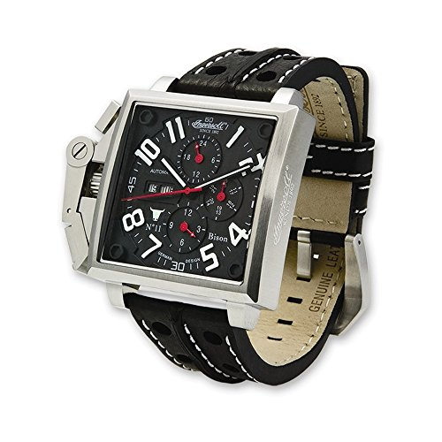 Mens Lefty Ingersoll Automatic Bison No. 11 Black Dial Watch