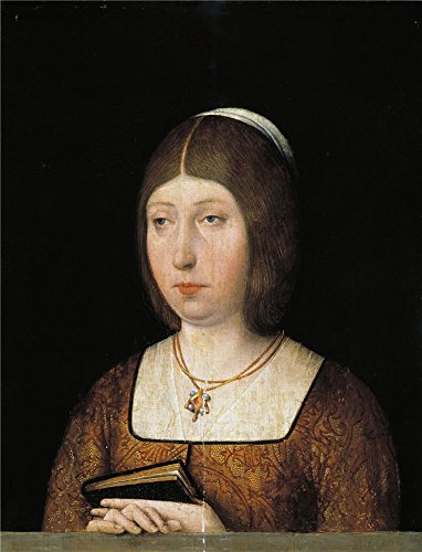 Oil Painting 'Anonymous Isabel La Catolica End Of 15 Century ' Printing On High Quality Polyster Canvas , 10 X 13 Inch / 25 X 33 Cm ,the Best Wall (Catolico Y Halloween)