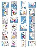 """Wine Folly - Complete Wine Map Poster Print Conjunto de 24 países / regiones productores de vinos principales (12 """"x 16"""")"""
