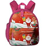 Liumong A Christmas of Fun Children Multi-Function Mini Casual Outdoor Travel Book Middle School Backpack 13 Laptop Computer Bag Pocket Zipper