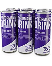 Runtime Performance Drink Berry - volle Power, Energie und Fokus für Arbeit, Sport, Studium und Gaming, mit Koffein und Grüner Tee Extrakt, Energy Drink, 6 x 250 ml Dosen, 6er Palette