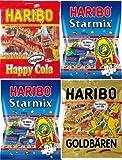 HARIBO ハリボー グミ ミニ(個包装タイプ)250g× 4 (スターミックス【2袋】・ゴールドベアー【1袋】・ハッピーコーラ【1袋】)