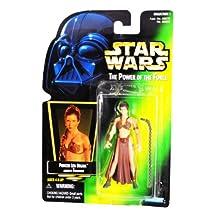 "Hasbro Star Wars Power of the Force Green Card Hologram 3 3/4"" Princess Leia Organa as Jabba's Prisoner Action Figure"