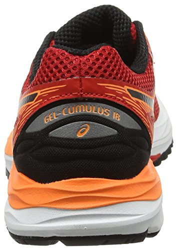 Asics Gel-Cumuilus 18 Gs, Zapatillas de Running Unisex Niños Naranja (Vermilion / Black / Hot Orange)