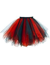 Women's 1950s Vintage Petticoats Crinolines Bubble Tutu Dance Half Slip Skirt