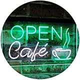 AdvpPro 2C Café Open Coffee Kitchen Decoration Bar Beer Dual Color LED Neon Sign White & Green 16'' x 12'' st6s43-i2011-wg