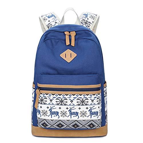 adolescenti B stampato portatile scuola Vhvcx scuola sacchetti zaino spalla carino sacchetto cervi ragazze raccolta tela di di per di di donne computer R1RqZwx4