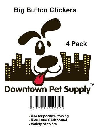 Amazon.com : Clicker botón grande con la banda de la muñeca para el entrenamiento de Clicker - hacer clic y entrenar perro, caballo, animal gato : Pet ...