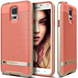Galaxy S5 Case, Caseology® [Wavelength Series] Textured Pattern Grip Cover [Coral Pink] [Shock Proof] for Samsung Galaxy S5 - Coral Pink