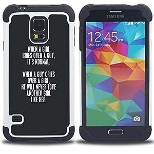 - grey girl love guy lesson valentines quote - - Doble capa caja de la armadura Defender FOR Samsung Galaxy S5 I9600 G9009 G9008V RetroCandy