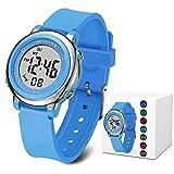 Kids Digital Watches, Boys Girls Sports Outdoor 50m Waterproof Electrical Wristwatch with Alarm