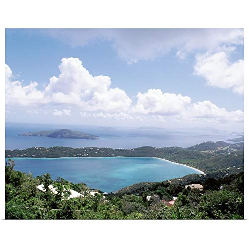 (GREATBIGCANVAS Poster Print Entitled US Virgin Islands, St. Thomas, Magens Bay, High Angle View of Bay by 36