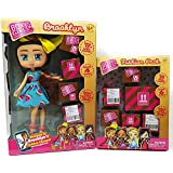 Boxy Dolls Kids Little Toddlers Girls Play Indoor Playtime Girls Brooklyn and Fashion Pack Bonus Cutie OWL Lip Gloss