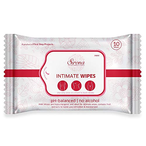 Sirona Intimate Wet Wipes – 10 Wipes