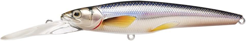 LIVE TARGET RS91D201 Rainbow Smelt Deep Dive Jerkbait 5-7 Multicolor 3-5//8