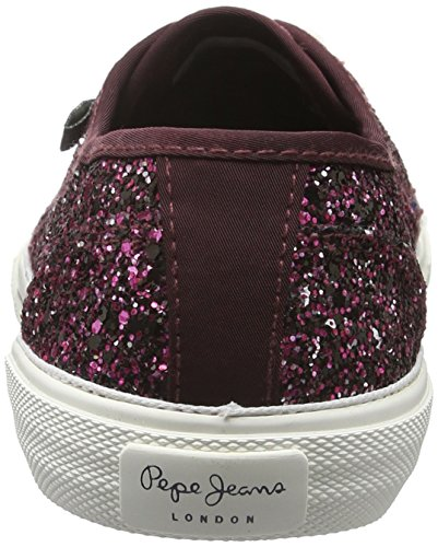 Pepe Jeans London Damen Aberlady Moon Party Sneakers Rot (BURGUNDY 299)
