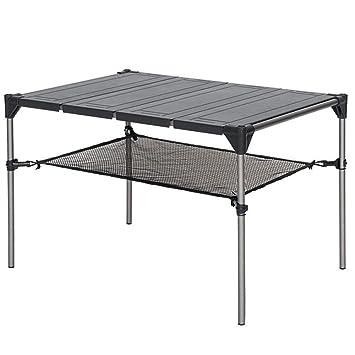 Amazon.com: Mesa plegable geométrica para exteriores, picnic ...