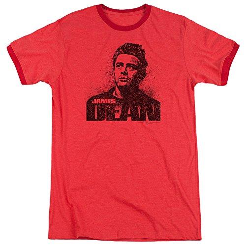 Dean Mens Dean Graffiti Ringer T-Shirt, X-Large, Red ()