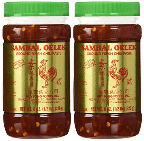 (Huy Fong Sambal Oelek Ground Chili Paste - 8 oz x 2 bottles)