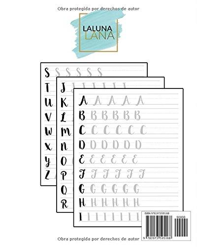 Caligrafia y Letras Bonitas: Cuaderno de caligrafía y lettering en más de diez estilos modernos (Spanish Edition): Laluna Lana: 9781973595168: Amazon.com: ...