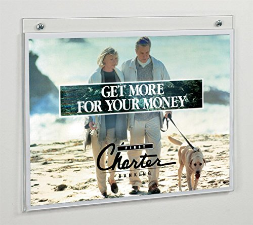 Panel Wall Acrylic Frame - Displays2go Clear Acrylic 11 X 8.5 Wall Mount Sign Holders, 10 Pack (FL1185)