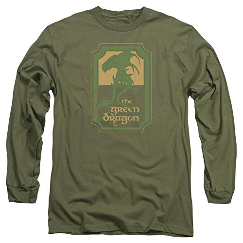 - Long Sleeve: Lord Of The Rings- Green Dragon Tavern Longsleeve Shirt Size XL