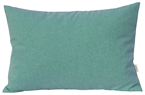 "TangDepot Solid Wool-Like Throw Pillow Cover/Euro Sham/Cushion Sham, Super Luxury Soft Pillow Cases - Handmade - Many Colors & Sizes Avaliable - (12""x20"", Mint Green)"