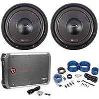 (2) MB QUART FW1-304 12 1200w DVC Car Audio Subwoofers+Mono Amplifier+Amp Kit