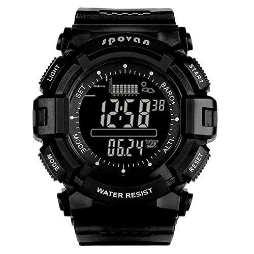 ZMCY Spovan SPV7061 Mountaineering Watch,Outdoor Sports Air Pressure Multi-Function Altitude Intelligent Fishing Equipment Tide Male Sports Watch Smart Watch,fullblack