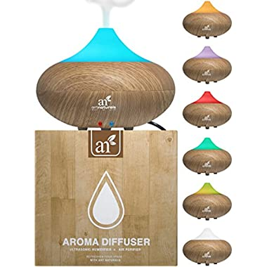 ArtNaturals Auto Shut-off 7 Color LED Lights Changing Essential Oil Diffuser
