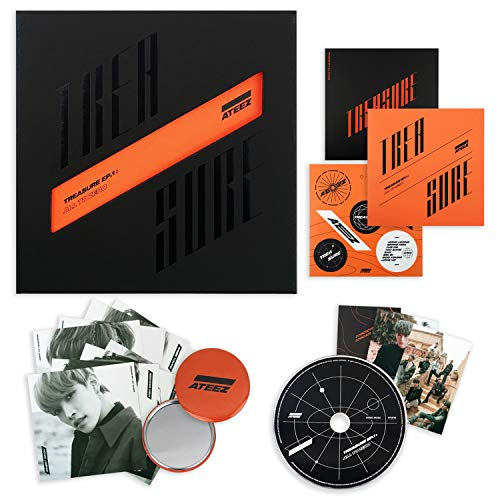 ATEEZ First Album - Treasure EP.1 : All to Zero CD + Sticker + on Pack Poster + Postcards + Photocards + FREE GIFT / K-POP Sealed ()