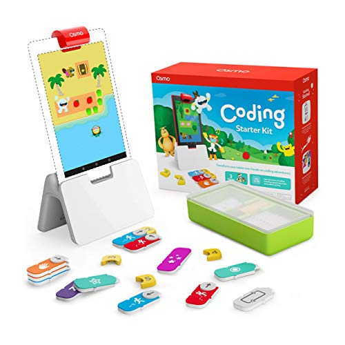 🥇 Osmo – Coding Starter Kit for Fire Tablet – 3 Hands-on Learning Games – Ages 5-10+ – Learn to Code