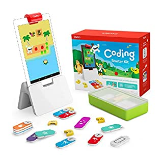 Osmo - Coding Starter Kit for Fire Tablet - 3 Educational Learning Games - Ages 5-10+ - Learn to Code, Coding Basics & Coding Puzzles - STEM Toy Fire Tablet Base Included