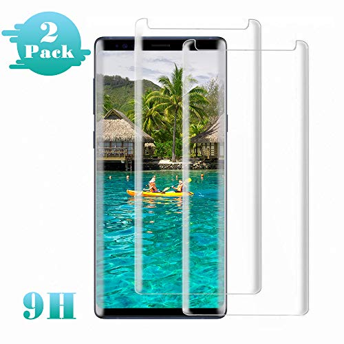 Galaxy Note 9 Screen Protector, (2-Pack) Tempered Glass Screen Protector[Force Resistant Up to 11 Pounds][Easy Bubble-Free] Case Friendly for Samsung Note9 (Released in 2018)