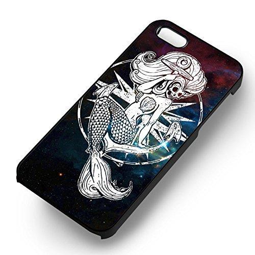 Disney Little Mermaid Skelleton pour Coque Iphone 6 et Coque Iphone 6s Case (Noir Boîtier en plastique dur) D1X5YT