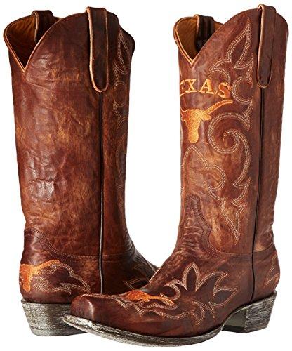 Ncaa Texas Longhorns Mens Gameday Stivali In Ottone