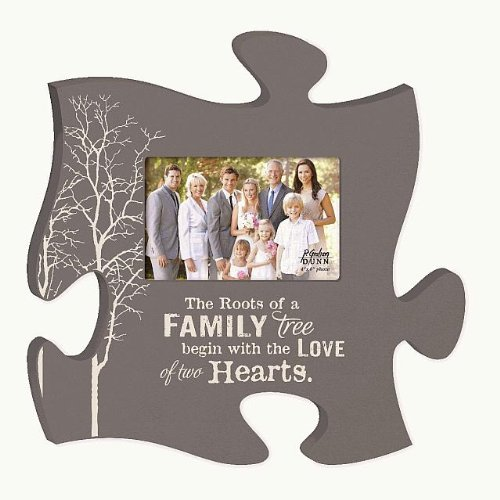 The Roots Of A Family Tree Begin With The Love Of Two Hearts Puzzle Photo Frame 12 X 12