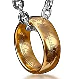 Dhnewsun The One Ring Stainless Steel Rings Bilbos Gold Ring Chain Ring WidthSize:US # 6