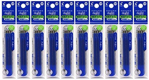 Pilot GPilot Gel Ink Refills for FriXion Ball 3 Gel Ink Multi Pen & FriXion Ball 4 Gel Ink Multi Pen, 0.5mm, Blue Ink, Value Set of 10