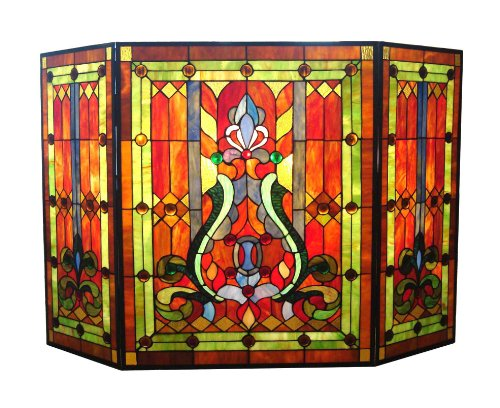 River of Goods Fireplace Screen: Stained Glass Tiffany St...